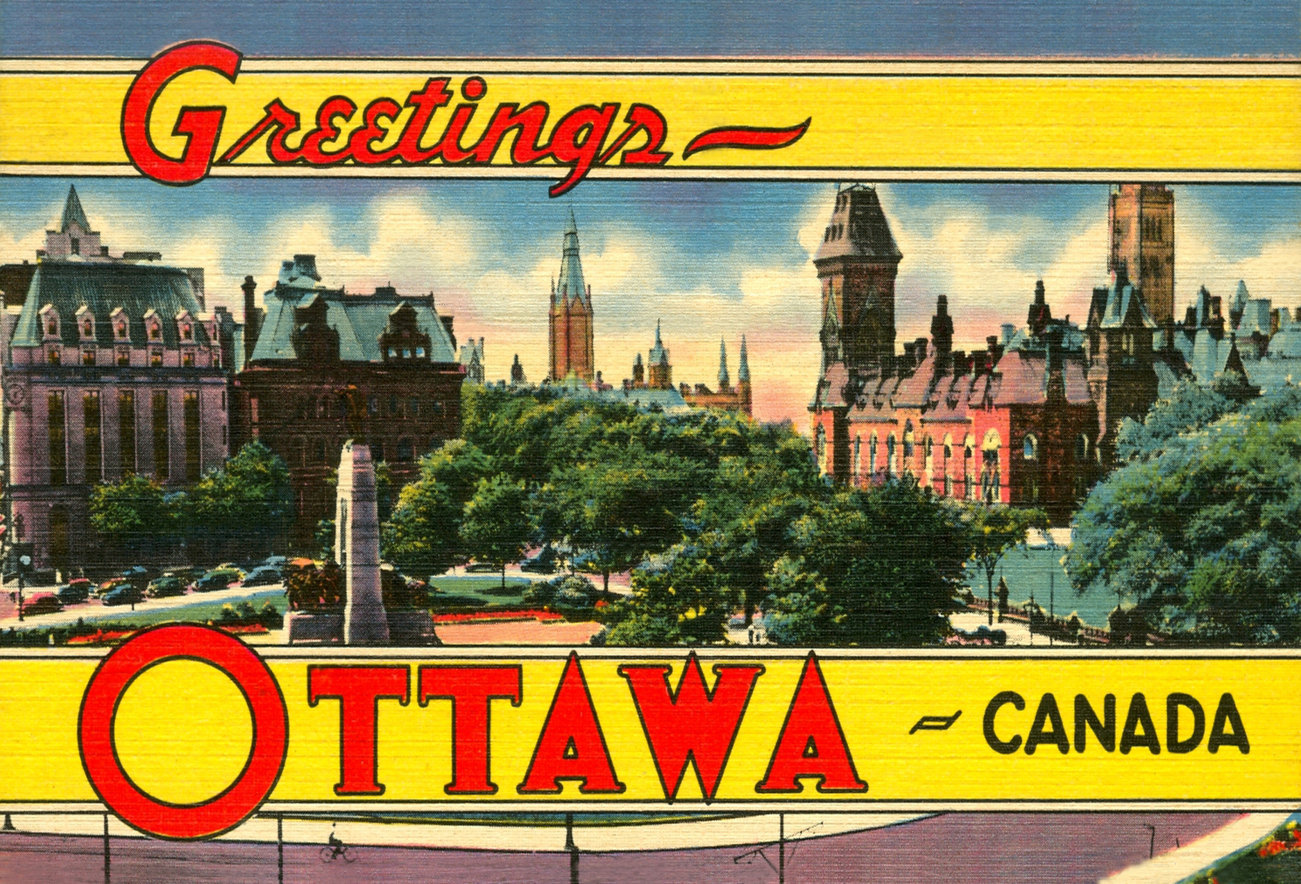 Greetings from Ottawa c1951, Rachel Wilson's hometown.