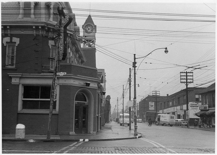 Queen and Ossington looking north October 23, 1958