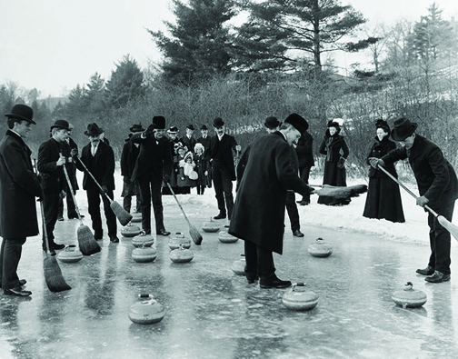 CCTXM014 A Curling party in Swansea, Ontario (now part of Toronto)