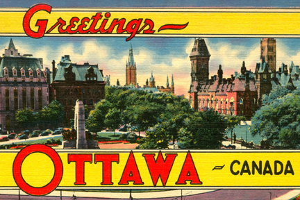 Greetings from Ottawa, Canada c1951