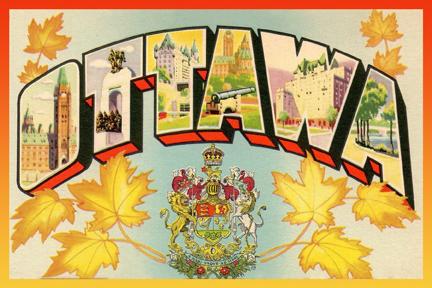 CCT0128-Large Letter Ottawa Postcard c1930