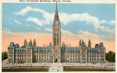 The Parliament Buildings, Ottawa, Ontario.