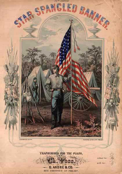Cover of the Star Spangled Banner sheet music